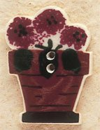 43008 - Potted Geraniums - 7/8in x 1 1/4in